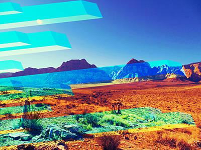 Las Vegas Artist Mixed Media - Spring Mountain Trip by Michelle Dallocchio