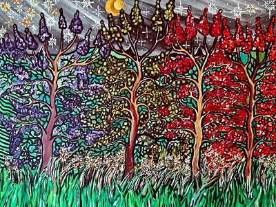 Acylic Painting - Spring Night by Matthew  James