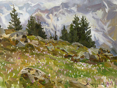 Spring On A Northern Slope Original by Victoria Kharchenko