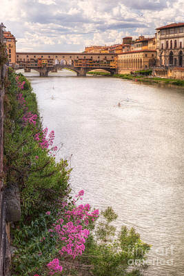 Photograph - Spring On The River Arno by Michele Steffey