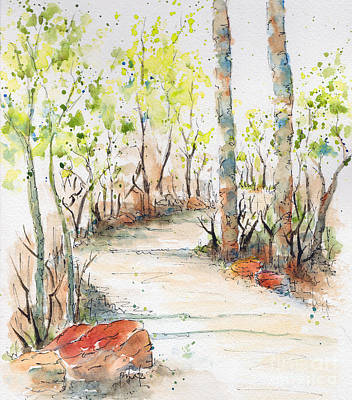 Painting - Spring On The Trail by Pat Katz