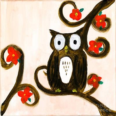 Indi Painting - Spring Owl by Katy  Scott