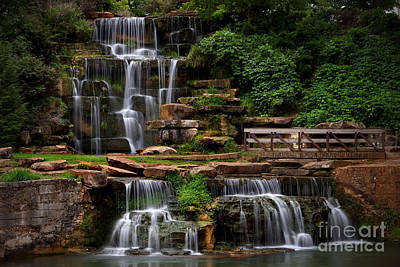 Photograph - Spring Park Falls by T Lowry Wilson