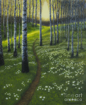 Painterly Painting - Spring Path by Veikko Suikkanen