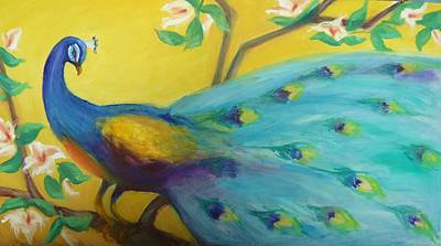 Painting - Spring Peacock by Gwen Carroll