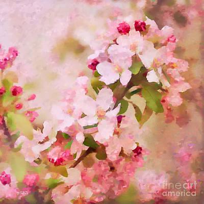 Spring Pink Print by Betty LaRue