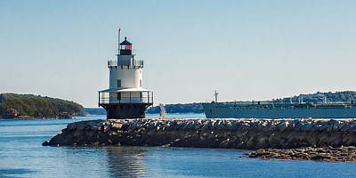 Photograph - Spring Point Ledge Light 7p00188 by Guy Whiteley