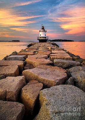 Maine Photograph - Spring Point Ledge Light by Benjamin Williamson