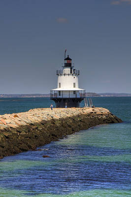 Spring Point Ledge Light Art Print by Joann Vitali