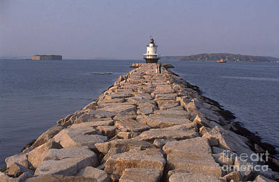 Ledge Photograph - Spring Point Ledge Lighthouse by Bruce Roberts