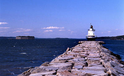 Ledge Photograph - Spring Point Ledge Lighthouse by Skip Willits