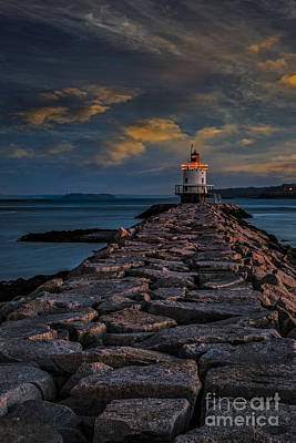 Ledge Photograph - Spring Point Ledge Lighthouse by Susan Candelario