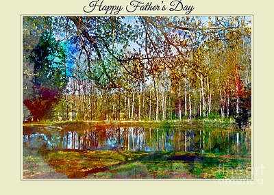 Photograph - Spring Pond Photoart Father's Day by Debbie Portwood