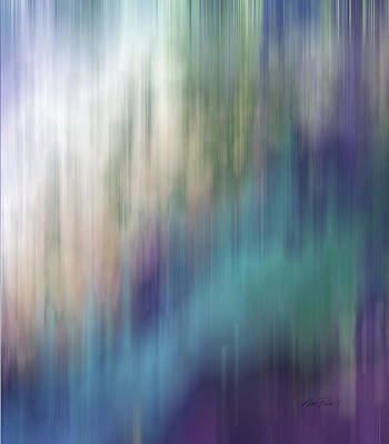 Digital Art - Spring Rain - Abstract Art  by Ann Powell