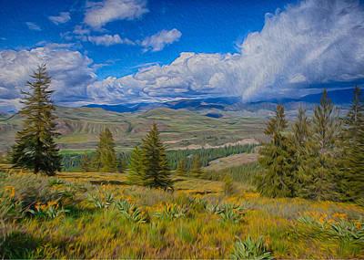 Spring Rain Across A Valley Art Print