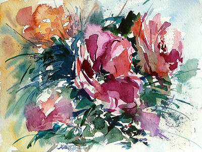 Painting - Spring Red Flowers by Mikko Tyllinen