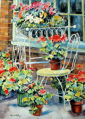 Painting - Spring Reds  by June Conte Pryor