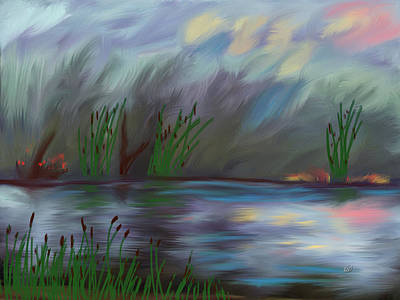 Spring Reed In The Canyon Art Print by Angela A Stanton