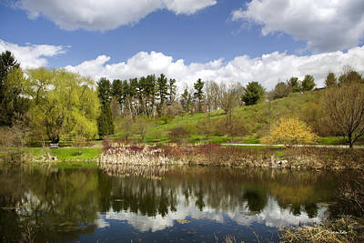 Finger Lakes Photograph - Spring Reflection Landscape by Christina Rollo