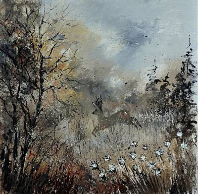 Spring Roe Deer Original by Pol Ledent