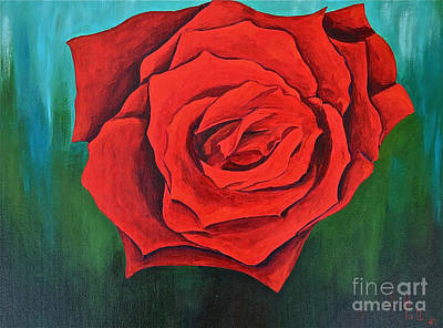 Fashion Paintings Rights Managed Images - Spring Rose Royalty-Free Image by Herschel Fall