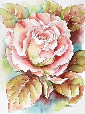 Painting - Spring Rose by Inese Poga