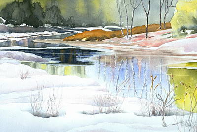 Painting - Spring Run-off At Willow Creek by Jo Appleby