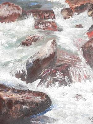 Rill Painting - Spring Runoff by Ronald Shepard