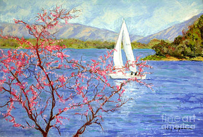 Painting - Spring Sail On Smith Mountain Lake by Shelley Koopmann