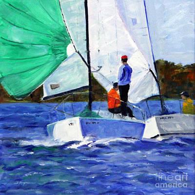 Painting - Spring Sailing Season Begins by Shelley Koopmann