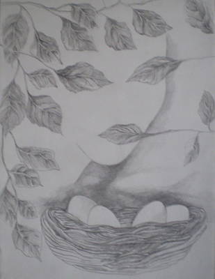 Slavic Drawing - Spring by SaTu Dagmar  Konstatska
