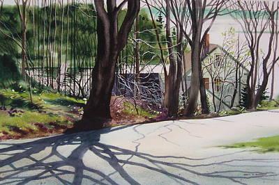 Spring Shadows Art Print by Karol Wyckoff