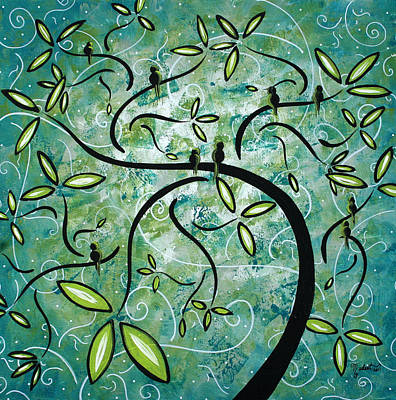 Green Painting - Spring Shine By Madart by Megan Duncanson