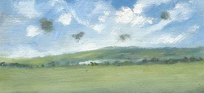 Painting - Spring Sky Bembridge Down by Alan Daysh