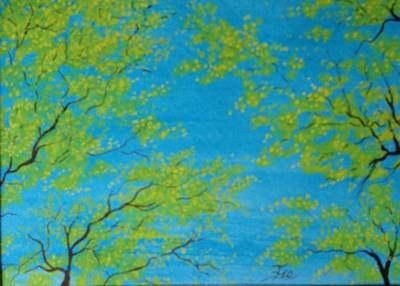Painting - Spring Sky by Flo Markowitz