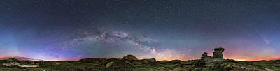 Spring Sky Over The Badlands Panorama Art Print