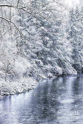 Staff Picks Judy Bernier Rights Managed Images - Spring snow along Gauley River Royalty-Free Image by Thomas R Fletcher