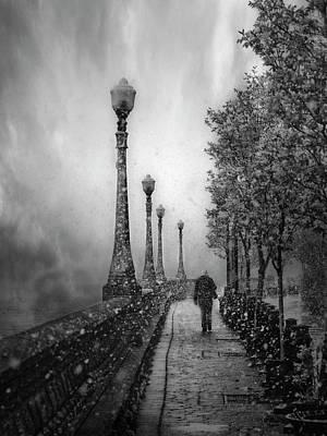 Snowfall Photograph - Spring Snow by David Senechal Photographie