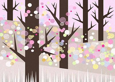 Digital Art - Spring Snow by Val Arie