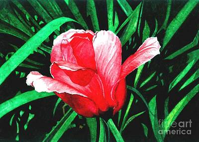 Art Print featuring the painting Spring Solo by Barbara Jewell