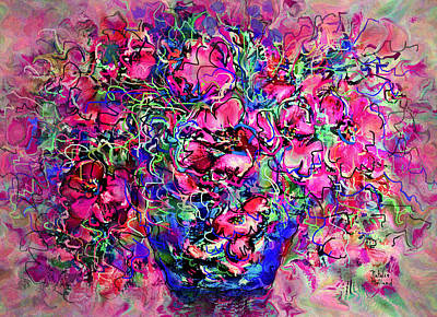 Flower Still Life Mixed Media - Spring Sonata by Natalie Holland