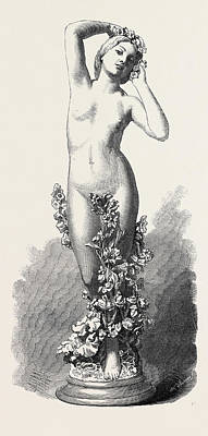 Spring Statue, 1866 Art Print by Vela, Vincenzo (1820-1891), Swiss