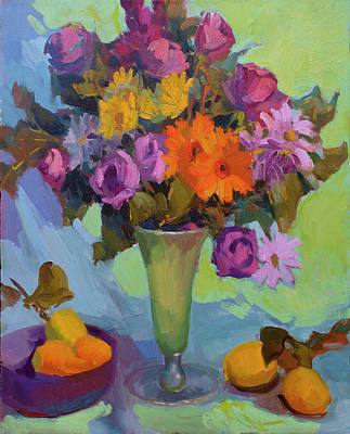 Traditional Still Life Painting - Spring Still Life by Diane McClary