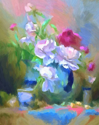 Painting - Spring Still Life Impressionism by Georgiana Romanovna