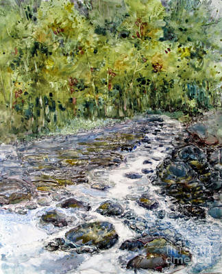 Painting - Spring Stream by Louise Peardon