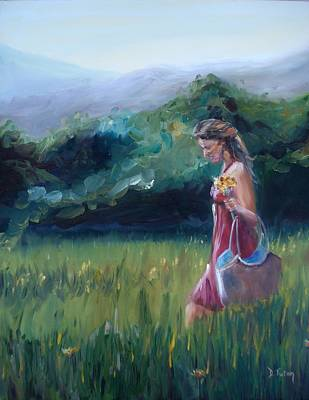 Art Print featuring the painting Spring Stroll by Donna Tuten