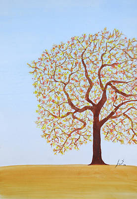 Treescape Painting - Spring by Sumit Mehndiratta