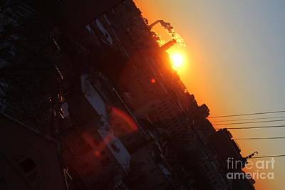 Moscow Skyline Wall Art - Photograph - Spring Sunrise by Anna Yurasovsky