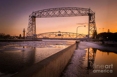Spring Sunset In Canal Park Art Print