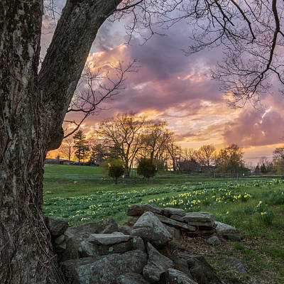 New England Landscapes Photograph - Spring Sunset Square by Bill Wakeley